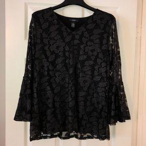 Alfani Black Blouse | Size: L
